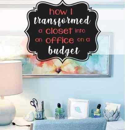 How I Transformed a Closet into an Office on a Budget