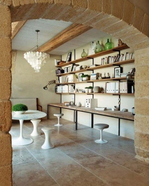 Contemporary Stone House Designs with Vintage Furnishing Constructions1