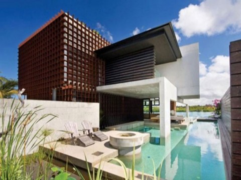 Plenty Wooden Beach House Designs Constructions with Comfy Living Room01
