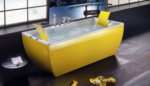 Fashionable Colorful Bathtub Designs with Modern and Stylish Style01