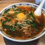 桜木屋 大仙店で絶品ニラそばラーメン)と鶏のから揚げを食べた