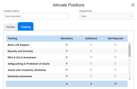 CoolCare4 Allocating Positions
