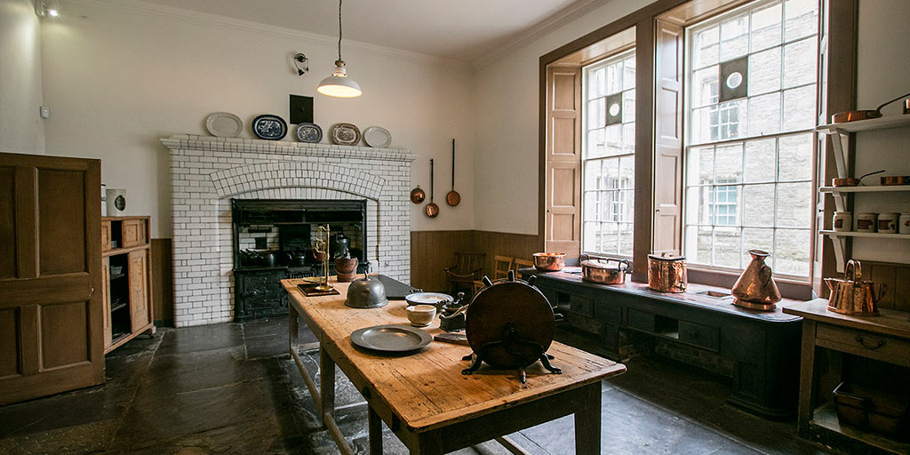 The kitchen at Muckross House
