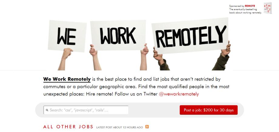 we work remotley