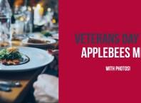 Veterans day 2018 applebees menu with photos