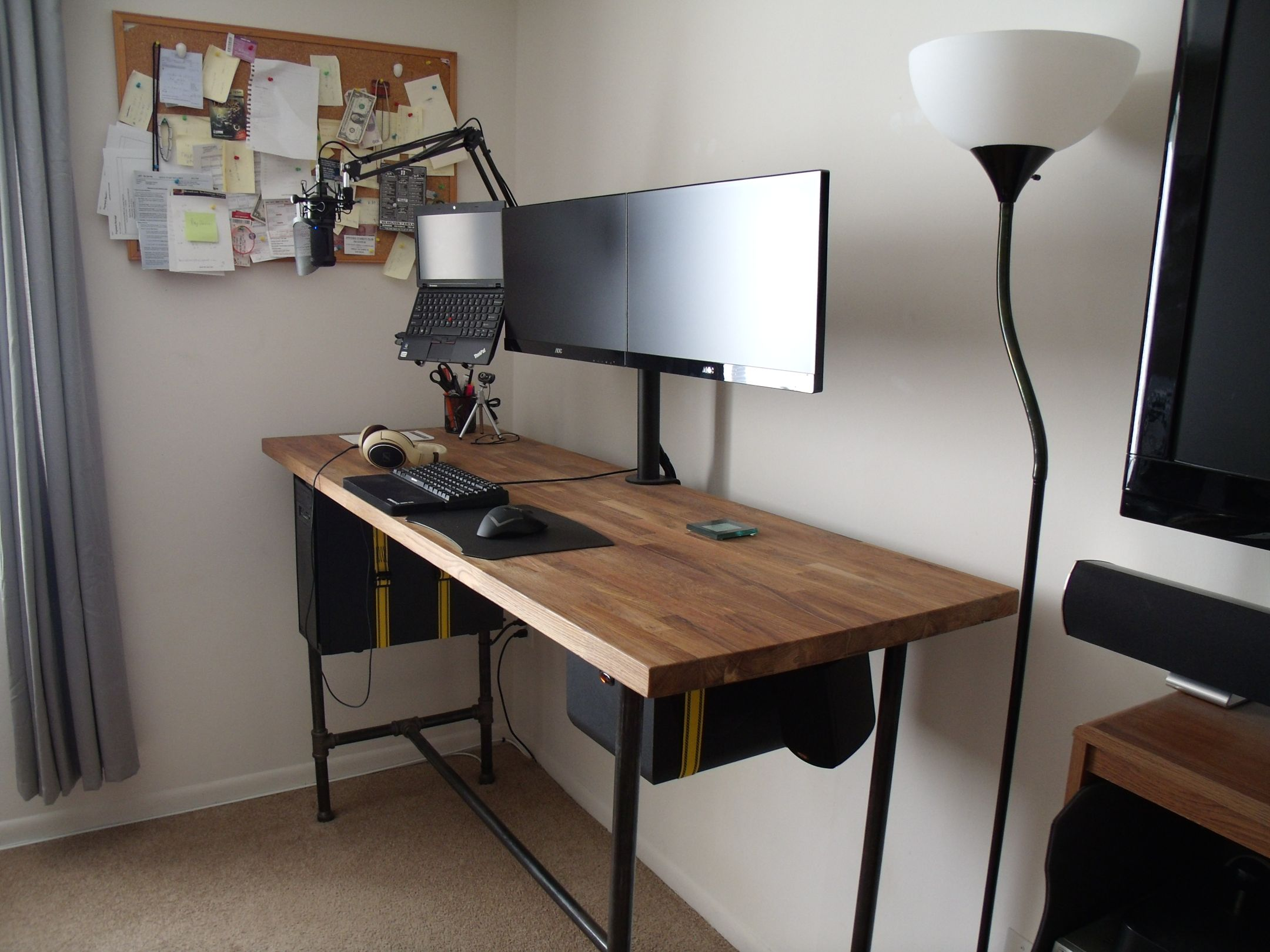 tall chair for standing desk recliner cushions argos cool computer setups and gaming