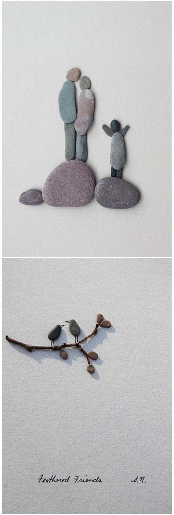 Stone art  Simple and Beautiful