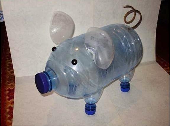 How to DIY Make Plastic Bottle Piggy Planter