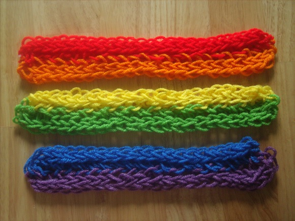 Finger Knitting Instructions for Kids  Adults
