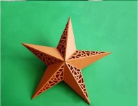 DIY 3D Paper Star Wall Lamp Shade