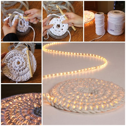 DIY Easy Crochet Light Rug
