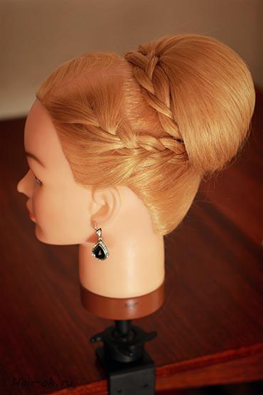 DIY Elegant Braid High Bun Updo Hairstyle