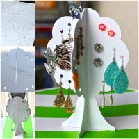 Cool Creativity  DIY Cardboard Earrings Storage Tree