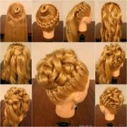 diy elegant hairstyle with braids
