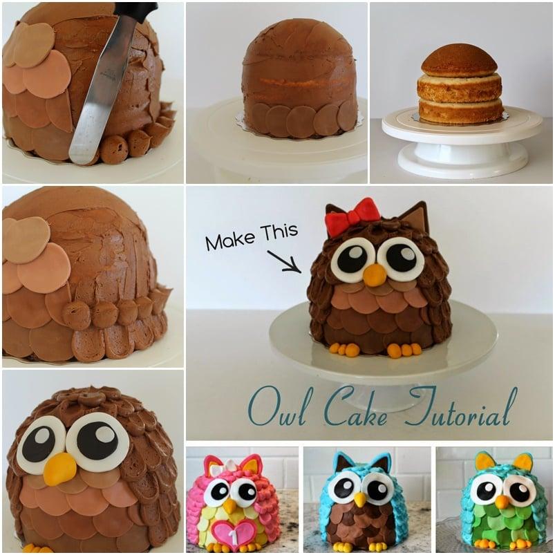 How To Make Cute Owl Cake