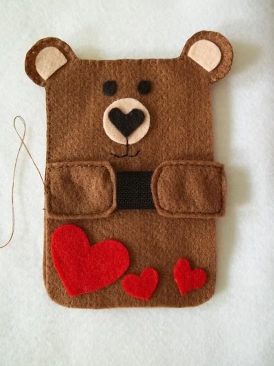 DIY Cute Felt Cell Phone Case