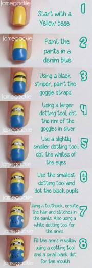 diy minion nails art