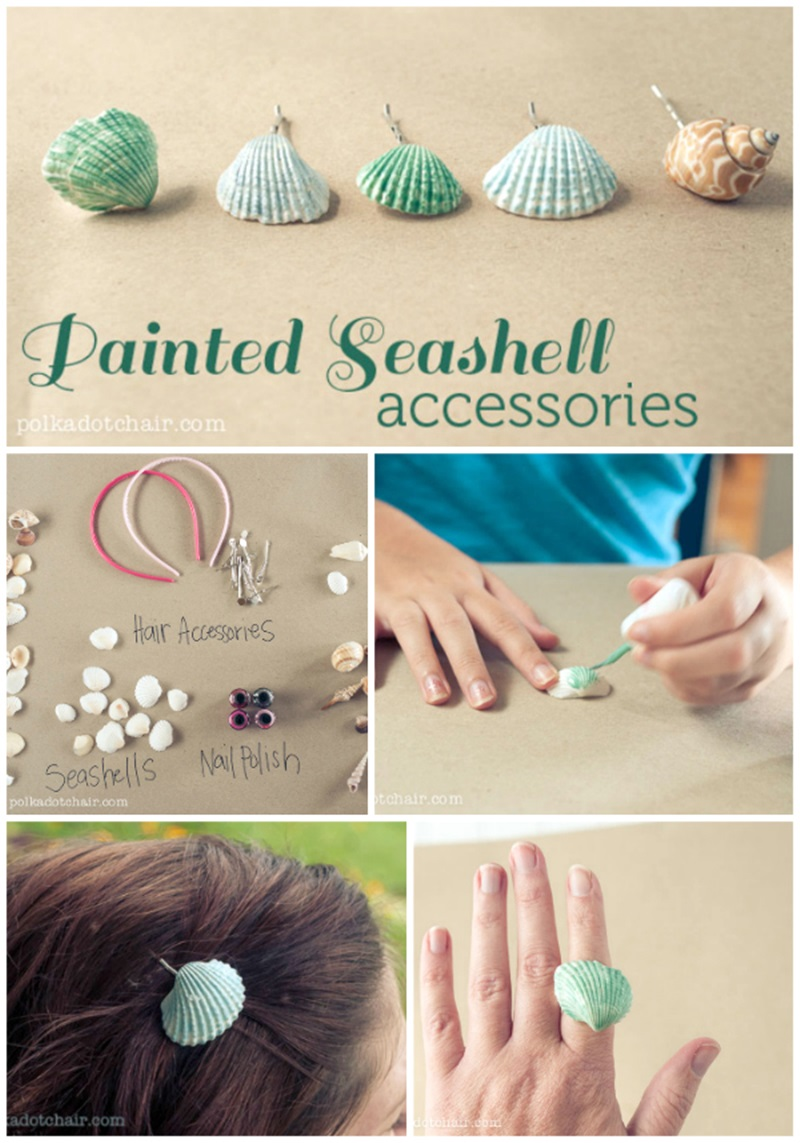 Painted Seashell Crafts Ideas Cool Creativities