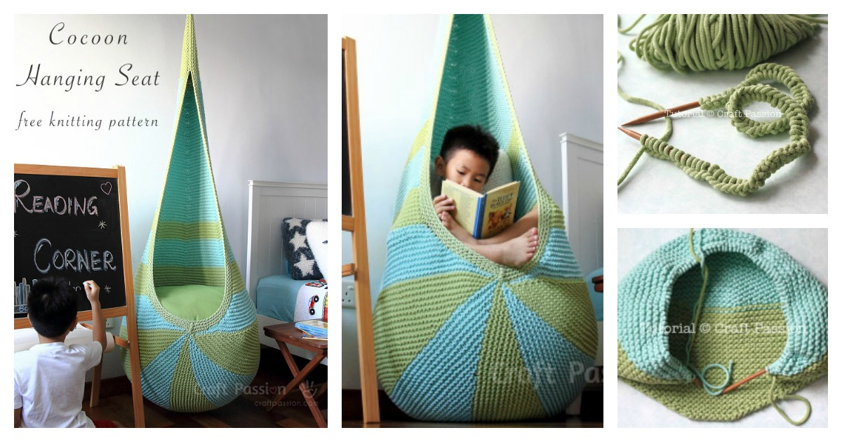 cool hanging chairs chair foot pads how to knitting a cocoon seat with free pattern