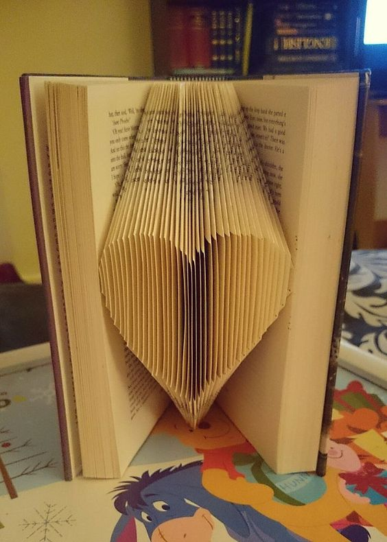 How to Fold Book pages Recycled Book Art Ideas