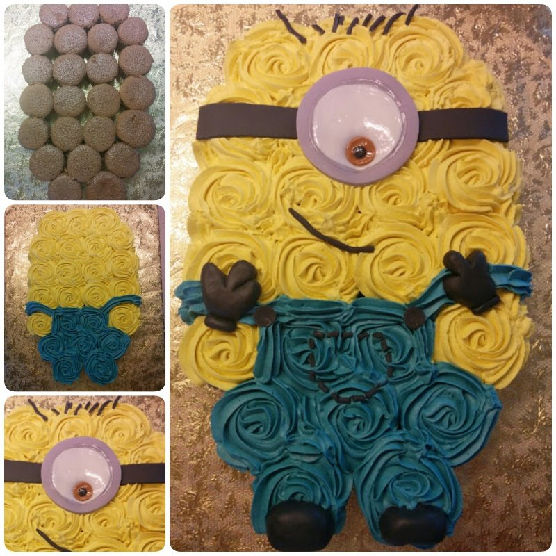 Pull Cupcake Cake Butterfly Apart