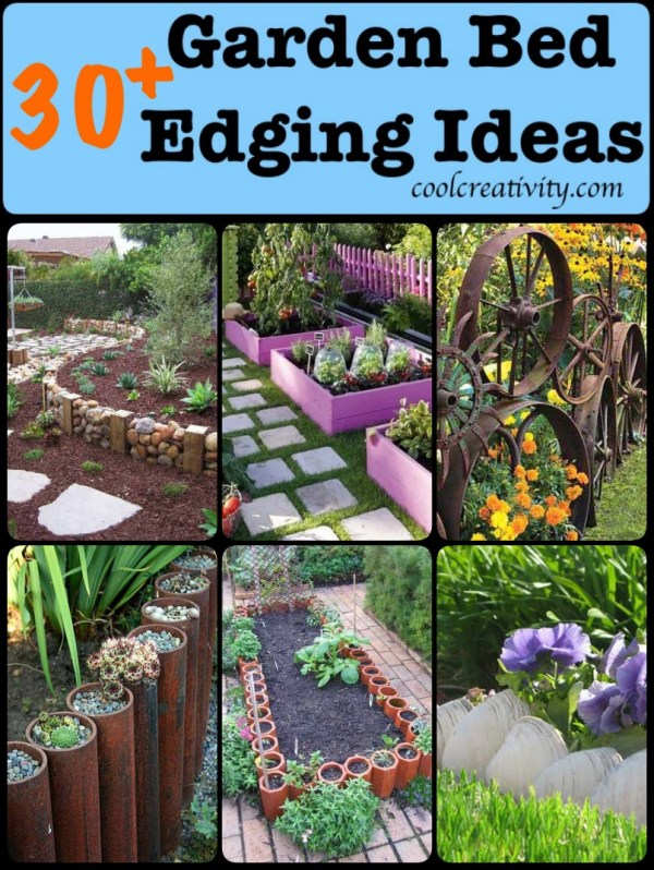 diy garden bed edging ideas