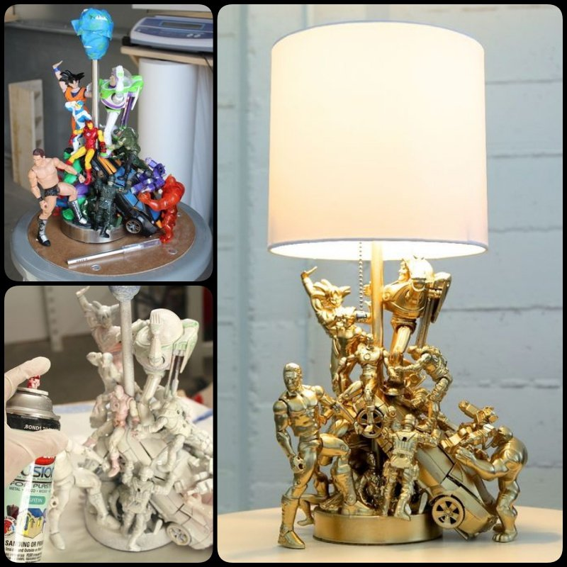 DIY Epic Lamp made with Old Toys