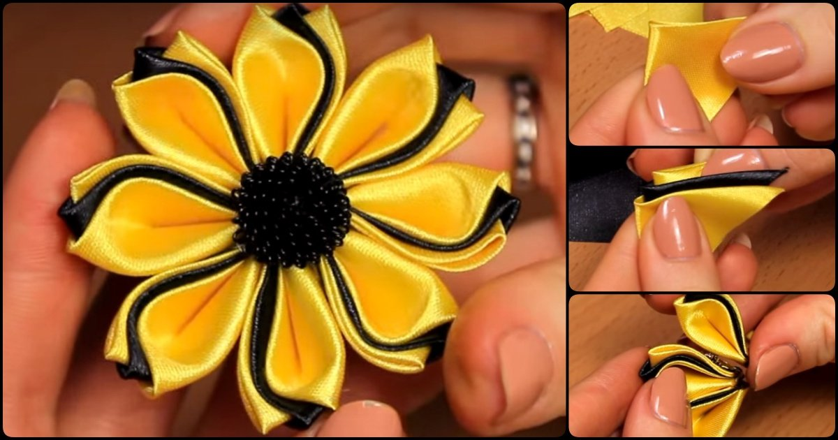 How To Make Simple Fabric Kanzashi Flowers