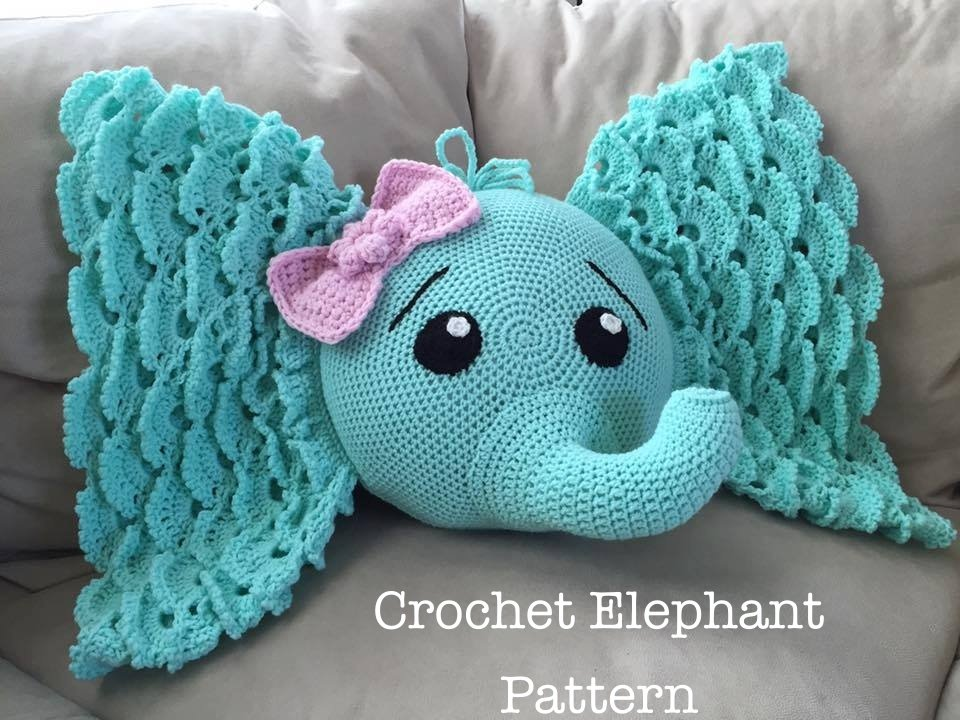 small rocking chair for nursery handicap recliner crochet elephant pillow with pattern