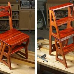 Library Chair Ladder Folding Knee How To Build A Fold Over