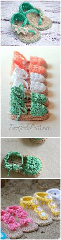 Free Printable Crochet Baby Sandal Patterns