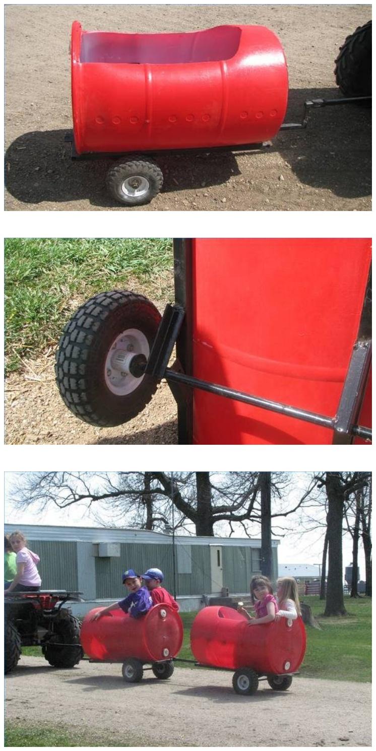 DIY Plastic Barrel Derby Car