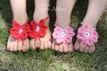 Flower Crochet Toe Sandals for Babies