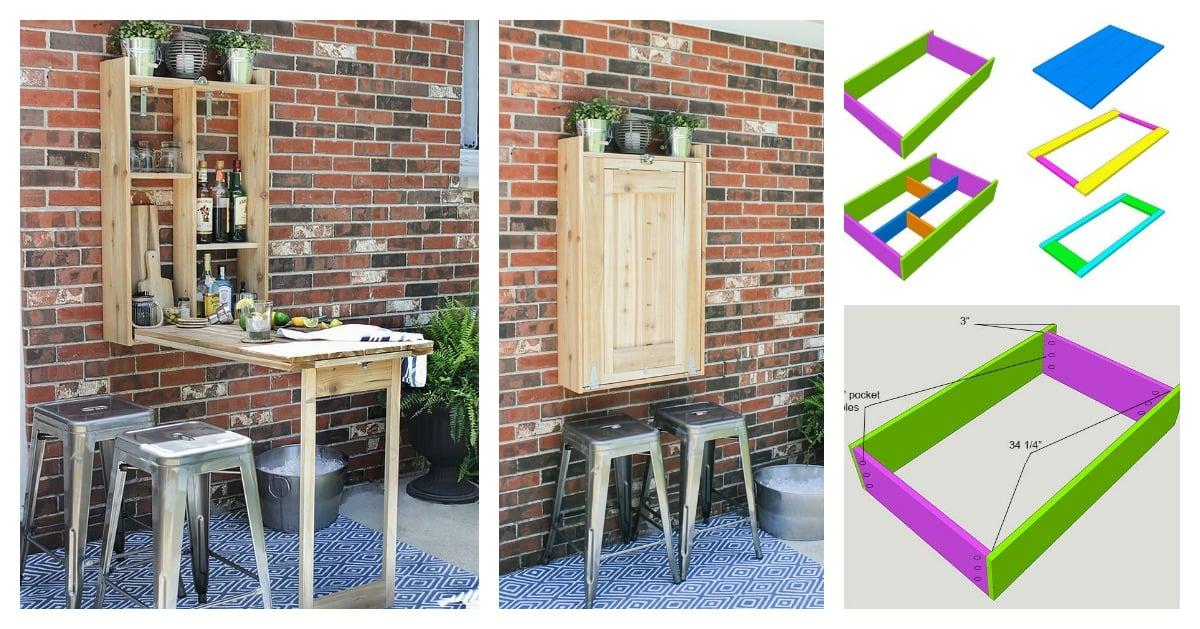DIY Cool FoldDown Outdoor Murphy Bar  Very Creative Idea