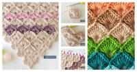 Fabulous Triangle Shawl Box Stitch Crochet Free Pattern