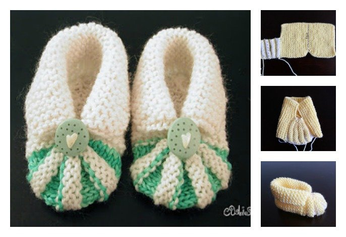 Simple and Cute Baby Knitting Booties Free Pattern