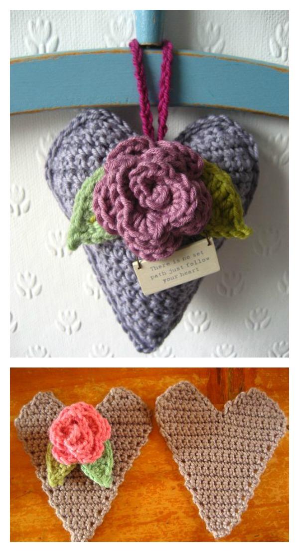Valentines Day Crochet 3D Heart FREE Patterns