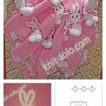 Crochet Bunny Blanket With Diagram Cool Creativities