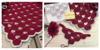 Lacy Crochet Shawl Pattern with Hearts Video Tutorial