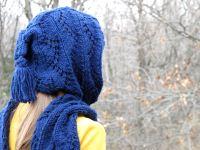 Stylish Hooded Scarf Free Knitting Pattern