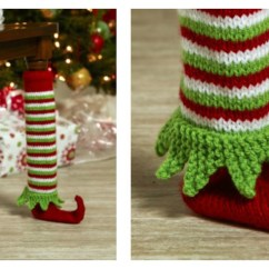 Chair Leg Covers Christmas Swing 2f Xxl Elf Shoe Table Cover Free Knitting Pattern