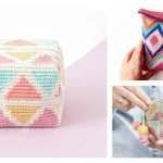Tapestry Cosmetic Bag Free Crochet Pattern