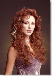 long red curly hair style cool