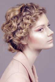 updo cool curly hair