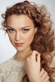 front braid cool curly hair
