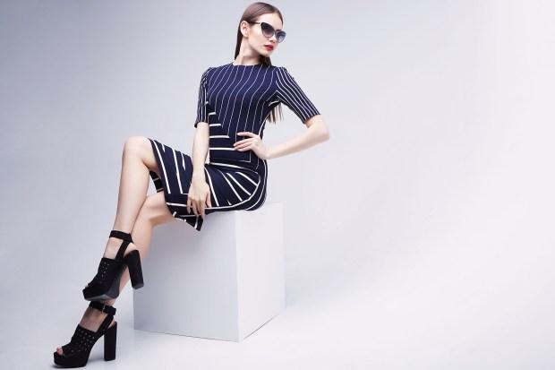 high fashion portrait of young elegant woman