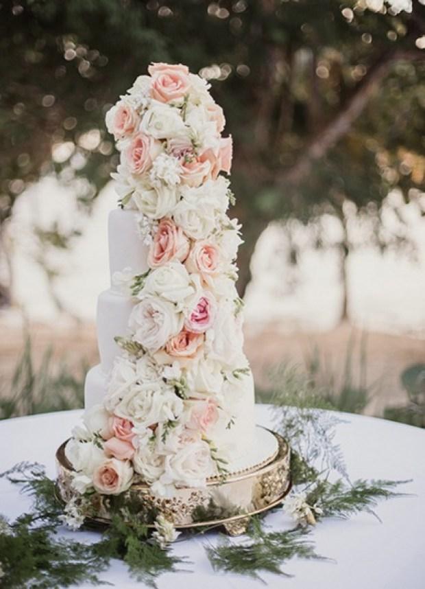 A classic white cake