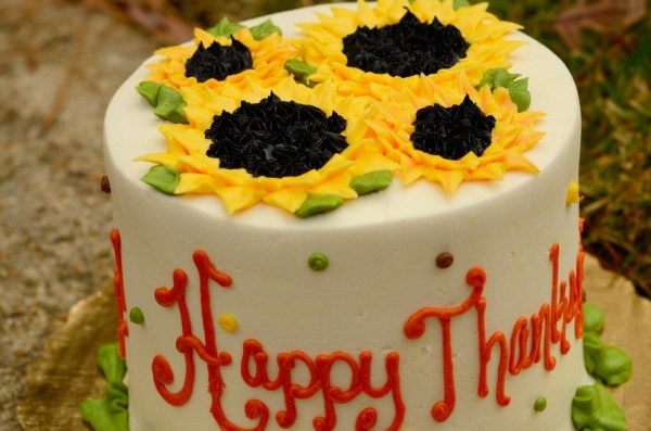 Cake with Sunflowers on top