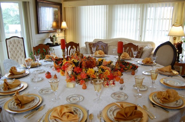Table with yellow brown touch
