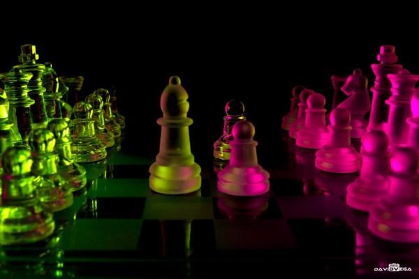 Glass chess neon